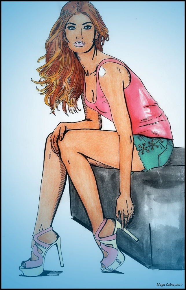 Lily Aldridge por MayaOsina